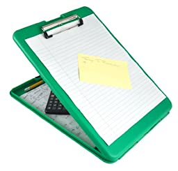 Saunders SlimMate Plastic Storage Clipboard, 00561, Letter Size (8.5 inch x 12 inch), Green