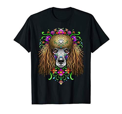 (Poodle Day of the Dead T-Shirt Dia De Los Muertos Dog)