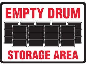 Aluminum Empty Drum Storage Area Sign - 7