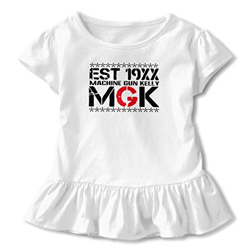 TiaKudy Machine Gun Kelly MGK Est 19xx  Baby Girls' Short Sleeve T-Shirt Toddler Tops White