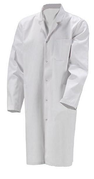 Bata de laboratorio para hombre, talla única, algodón, color blanco, XXS –