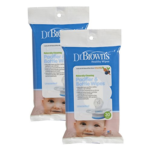Dr. Brown's Pacifier and Bottle Wipes - 30 Pk (Set of Two)