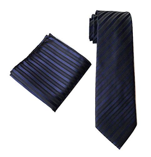 k Ties Hanky Set Fashion Handmade Necktie with Pocket Square ()