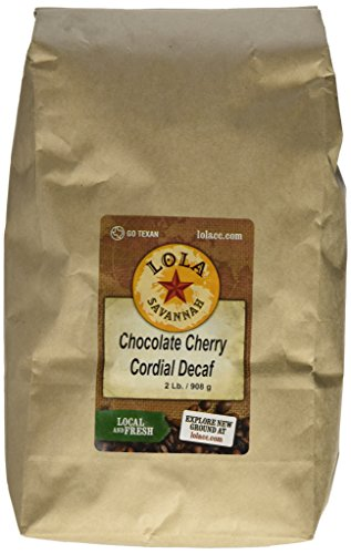Lola Savannah Chocolate Cherry Cordial Whole Bean Coffee - Enjoy the Delicious Flavors of the Black Forest in Your Coffee | Decaf | 2 Pound