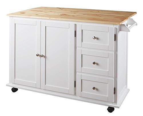 Signature Design by Ashley D350-486 Withurst Kitchen Cart, Multi ()