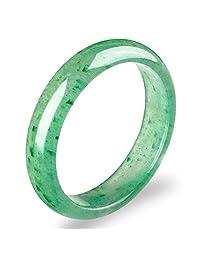 Auspicious Cloud Genuine Fashion Light Green Jade Jadeite Queen Bangle Bracelet
