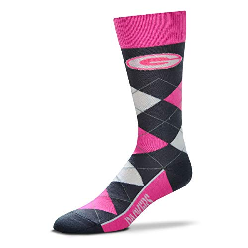 Lineup Packers Bay Green - For Bare Feet NFL Argyle Lineup Melange Crew Socks - One Size Fits Most (Green Bay Packers)