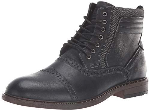 Pictures of Steve Madden Men's Trentin Ankle Boot TREN01M1 Black Leather 1