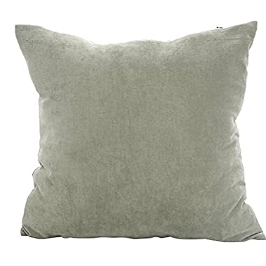 Deconovo Corduroy Tufted Home Decorative Pillow Case Cushion Cover for Car With Invisible Zipper, 18x18-inch, Neutral Grey
