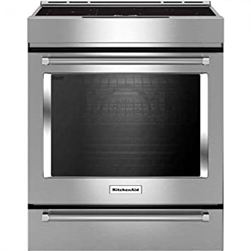 KitchenAid 4 Element Induction Slide In Convection Range With Baking Drawer  30 Inch