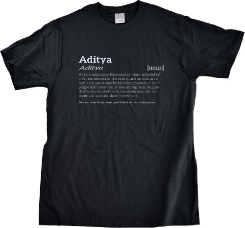 ADITYA IS A SOLID DUDE T-shirt for Rad Guys Named Aditya-Large