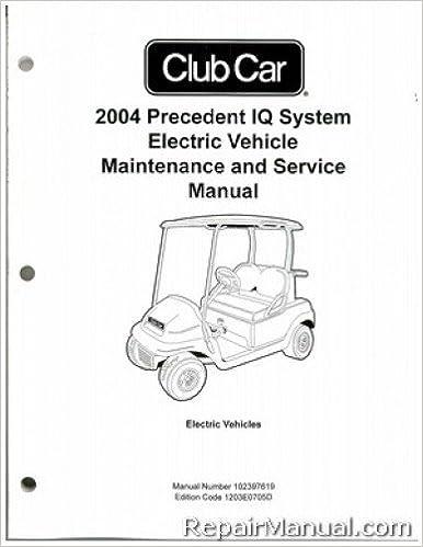 102397619 2004 Club Car Precedent Iq System Electric Vehicle