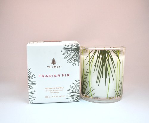 Thymes Frasier Fir Poured Candle w/Pinecone Glass - 6.5oz