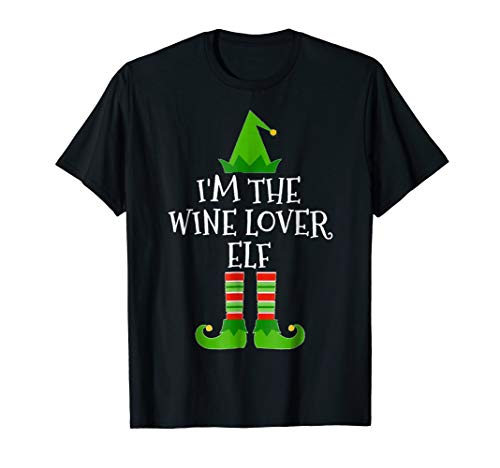 Im The Wine Lover Elf Matching Group Christmas T Shirt