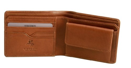 Visconti VICENZA VCN-19 Leather Classic Medium size Bifold Wallet with Coin Purse