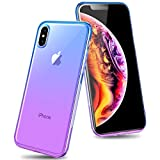 Airror Phone Case Compatible iPhone Xs Max, Clear Multi-Color Gradients Slim Case, Impact