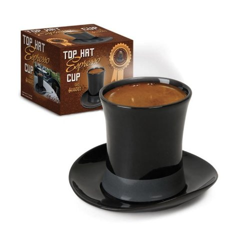Accoutrements Top Hat Novelty Espresso Demitasse Cup with Saucer -