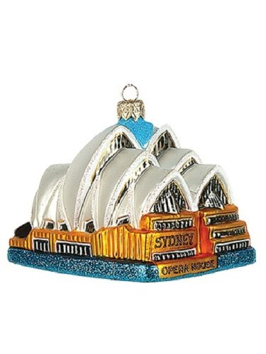 Sydney Opera House Australia Polish Blown Glass Christmas Ornament Decoration (Opera House Sydney compare prices)