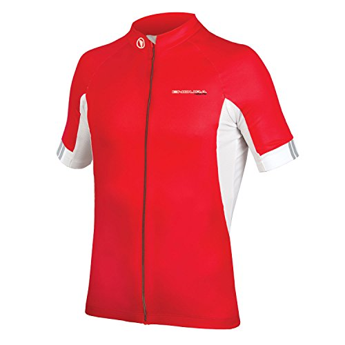 Endura FS260-Pro III Short Sleeve Cycling Jersey Red, (Craft Pro Cool Bike)