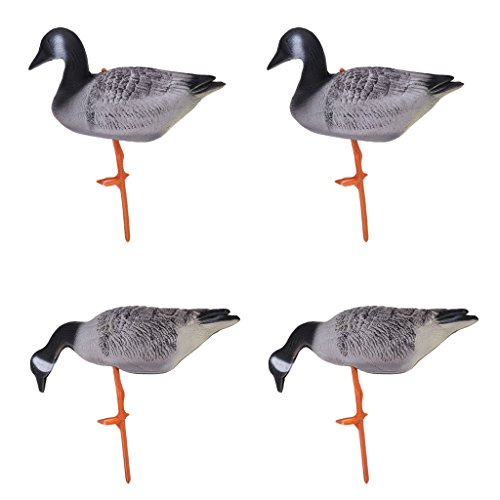 Homyl Set of 4 Portable Full Body Goose Hunting Decoys Lawn Yard Decor Hunter Gears