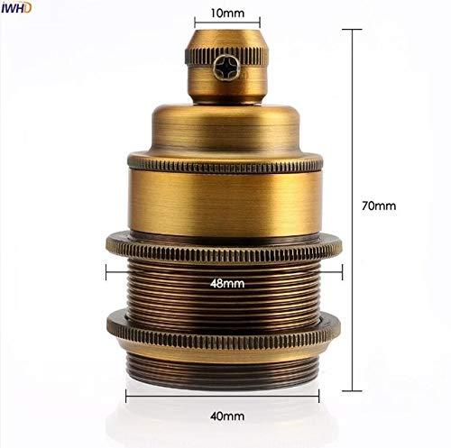 Lamp Base - DIY Aluminum Silver Fitting E27 Socket Lamp Base Homekit 110-220V Vintage E27 Light Bulb Holder Edison CE UL - (Color: E27, Base Type: 4 pcs) by Kamas (Image #2)