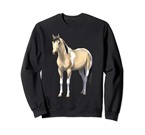 Buttermilk Buckskin Pinto Quarter Horse Paint Horse Sweatshirt ()