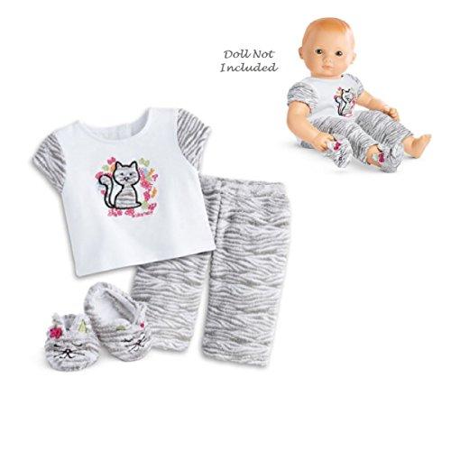 American Girl Bitty Baby Bitty Kitty Pajamas for 15