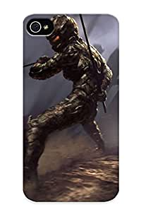 015c1096353 New Iphone 4/4s Case Cover Casing(ninja Robot )/ Appearance