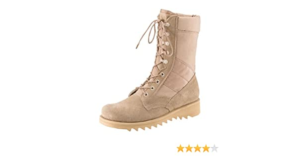 Amazon.com  Army Universe Desert Tan Ripple Sole Military Speedlace Jungle  Boots (Leather) 8