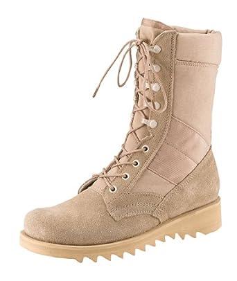 Amazon.com  Army Universe Desert Tan Ripple Sole Military Speedlace ... f3558553b9