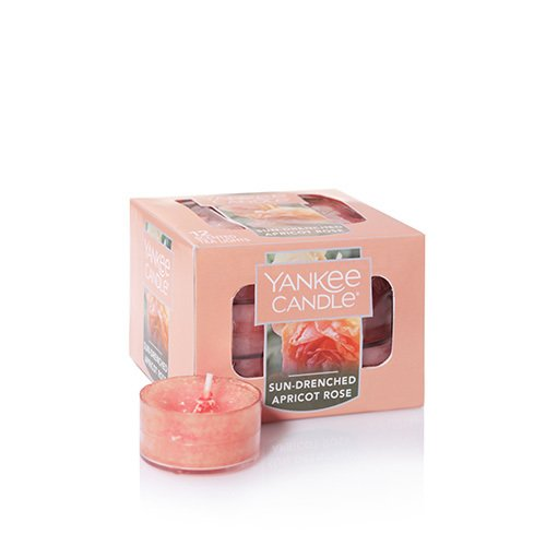 - Yankee Candle Sun Drenched Apricot Rose 12 Tea Lights