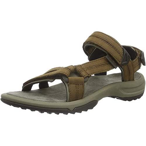 chollos oferta descuentos barato Teva W Terra Fi Lite Leather Sandalias de Punta Descubierta para Mujer Marrón Brown Brn 36 EU