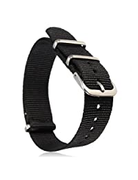 BABAN 18mm Military Nylon Wrist Watch Band Strap F Watches Stainless Steel Buckle