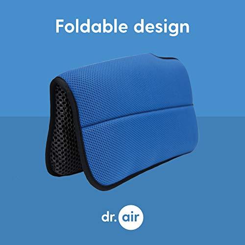 Dr. air Seat Cushion, Non-Slip Orthopedic Support Cushion, Back, Sciatica, Coccyx and Tailbone Pain, Stadium, bleacher, Park, Outdoor (Blue, Portable)