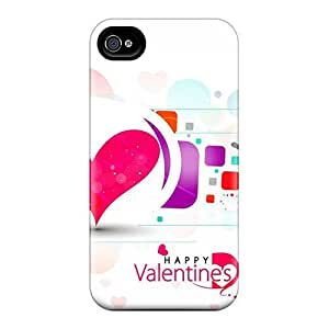 Top Quality Case Cover For Iphone 4/4s Case With Nice Happy Valentines Day Appearance by Maris's Diary