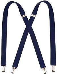 Fashion Shirt Navy Suspenders Men Classic X Back Elastic Braces