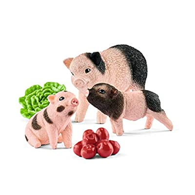 Schleich Farm World Miniature Pig Mother and Piglets 5-piece Educational Playset for Kids Ages 3-8: Schleich: Toys & Games