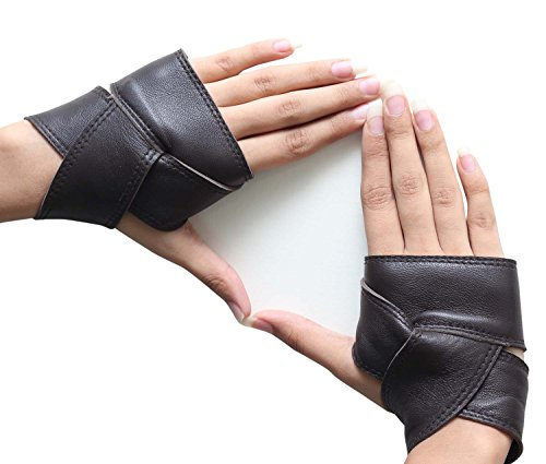 Fingerless Gauntlet - Miracle(Tm) Wonder Woman 2017 Costume Gloves - Leather Gloves (L)