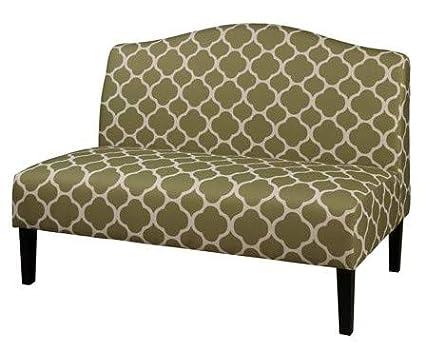 Amazon.com: Love Seat Small Sofa Bench Lime Green Quatrefoil ...