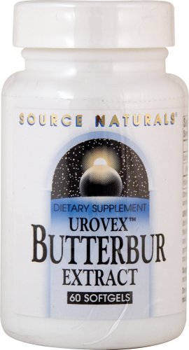 Source Naturals Butterbur Extract (urovex) 50mg, Supports a Healthy Bladder, 60 Softgels