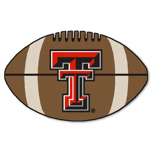 FANMATS NCAA Texas Tech University Red Raiders Nylon Face Football Rug -