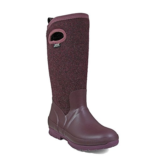 eu37 Wellington Boots Plum Ladies Wool Waterproof Bogs uk4 72108 Insulated Crandall Warm 0gAqP