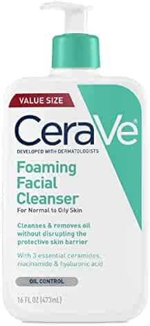 CeraVe Foaming Facial Cleanser | 16 Fl Oz | Daily Face Wash for Oily Skin | Fragrance Free