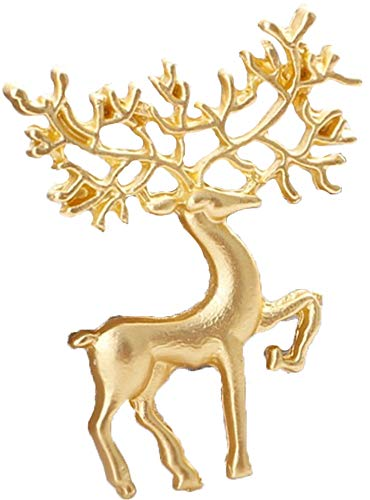 Flairs New York Premium Handmade Enamel Lapel Pin Brooch Badge (Golden Mythical Buck, 1 Pin)