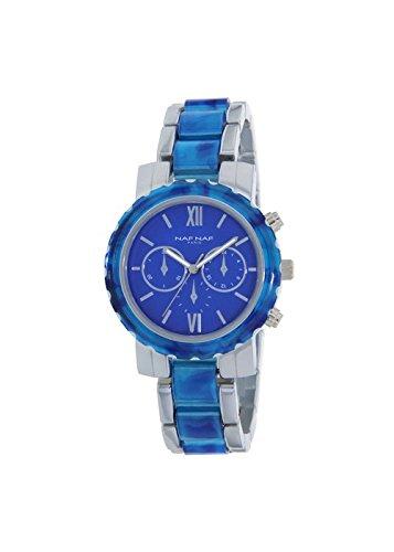 Reloj NAF NAF D IPS plateado Eyes contador IPS Plastic Blue Azul - n11004 - 208: Amazon.es: Relojes
