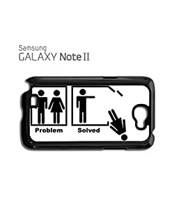 Problem Solved Funny Mobile Cell Phone Case Samsung Note 2 White