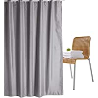 Wimaha Fabric Shower Curtain Liner Water-Resistant, Machine Washable, 100% Polyester, Perfect for Bathroom Stall Bathtub…