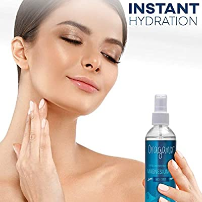 Oraganix Magnesium Oil Spray with Pure Concentrated Magnesium Chloride - 8oz Spray Bottle for Topical Use, Rapid Absorption for Joint Pain & Stress Relief, Improved Muscle Function and Headache Relief