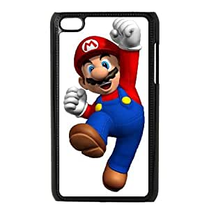 iPod Touch 4 Case Black Super Mario Bros CHM Cell Phone Case Customized Protective