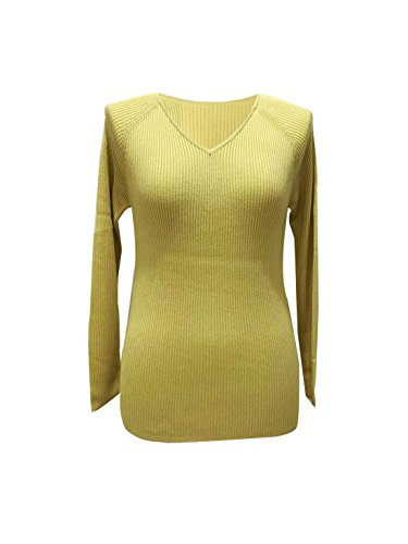 Women's V-neck Tencel Stylish Pullover Soft Slim-fit Basic Sweater Daily Tops